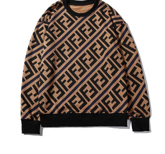 2020 nuevo estilo W7Fendi sudaderas con capucha de manga larga para hombre de carta clásico sudaderas con capucha negro blanco de la manera ropa Top Camisetas otoño