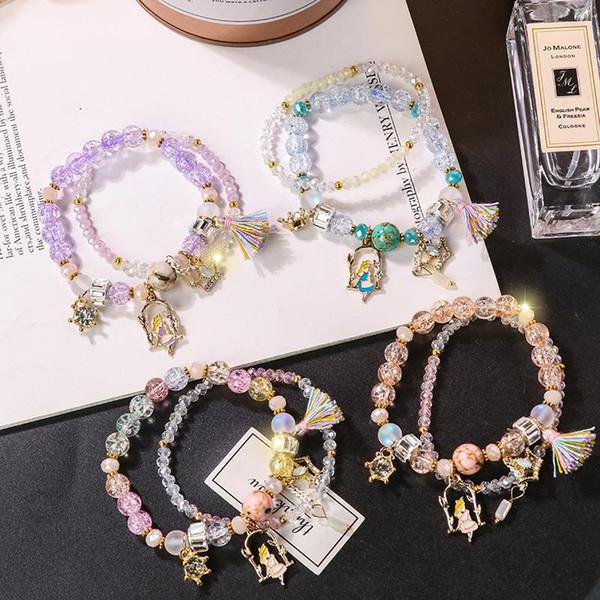 Moda pulseira de cristal do sexo feminino simples estudante doce Sen Departamento namoradas presente pulseira venda quente