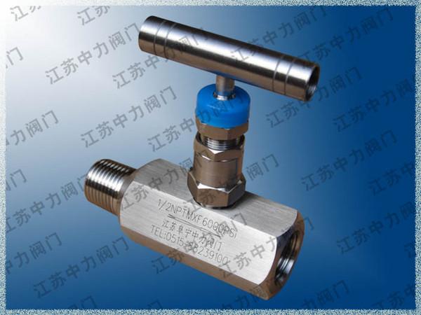 Import pressure gauge fine-tuning needle valve