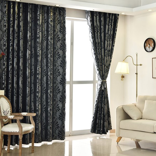 2019 Room Curtains Ready Home Blinds Window Panel Window Treatments Green  Living Modern Drapes New European Black From Flaminglily, $40.61 | ...
