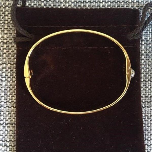Женская мода л домашнего цветка браслет классической бренд мода роскошь унисекс пара Браслет золото / розовое золото / серебро три цвета