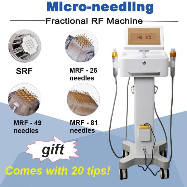 Novo modelo bons efeitos rf fracionada trecho cicatriz remoção marca de remoção de micro agulha da máquina facial 81pins 49pins 25pins e dicas SRF