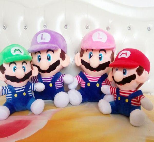 Üreticinin Nokta Süper Mario Kardeşler Peluş Oyuncaklar Mario Aptallar Animasyon Oyunu Çevreleyen Bebekler