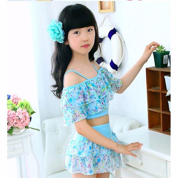 Sunny eva girl Купальники Baby купальный костюм для девочек купальники с цветочным принтом купальник детский из двух частей