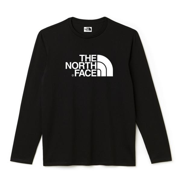 Atmungsaktiv Langarm Hipster Gesicht Norden DAS T-Shirt für Männer T-Shirt Rundhals Volltonfarbe Baumwolle Basic T-Shirt Schwarz Herren T-Shirts Sommer