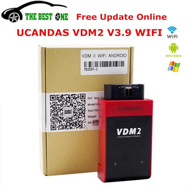 best selling New Arrival UCANDAS VDM2 V3.9 Wifi Version Auto Scanner VDM II Full System V5.2 OBD2 OBDII Diagnostic Tool VDM 2 For Android PC