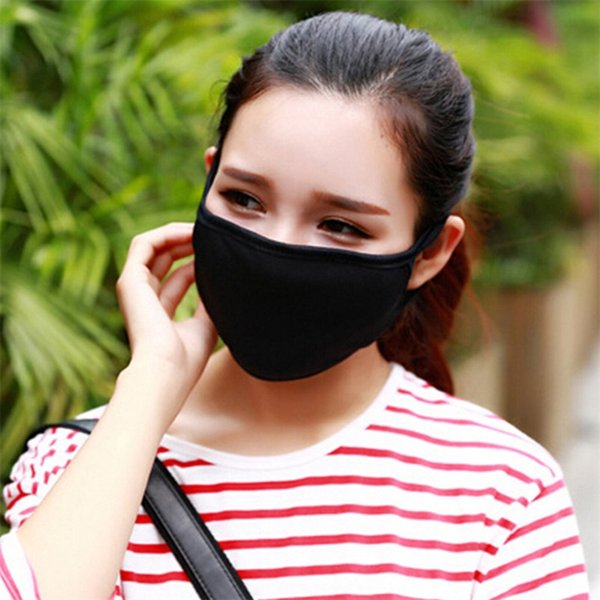 best selling New Anti-Dust Masks Cotton Mask Mouth Face Mask Unisex Man Woman Cycling Wearing Black White Fashion High Quality