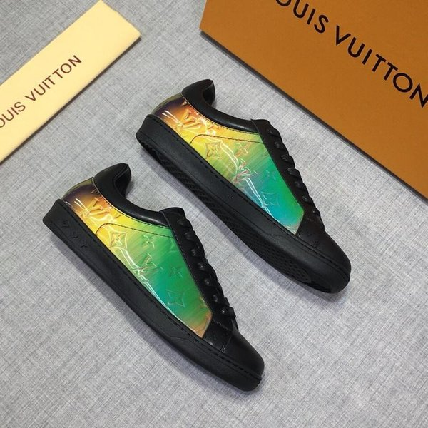 Tasarımcı Ayakkabı beyaz Dantel Kadar Hakiki Deri Rahat ayakkabılar Erkek Kadın sneakers Düz kutu ile tasarımcı Sneakers elbise ayakkabı satılık