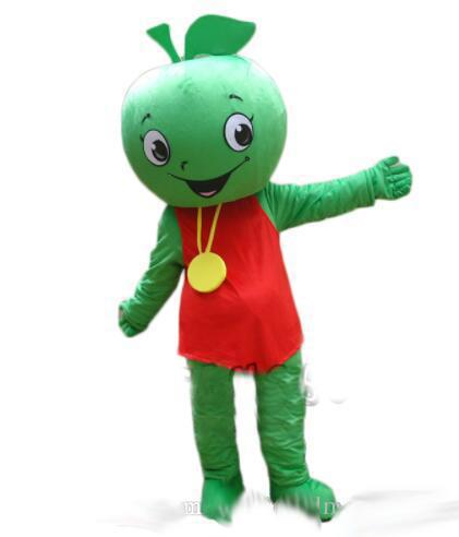 New Fruit Mascot Little Green Apple Mascot Costume Halloween Birthday Party anime Adult Size Free Shipping