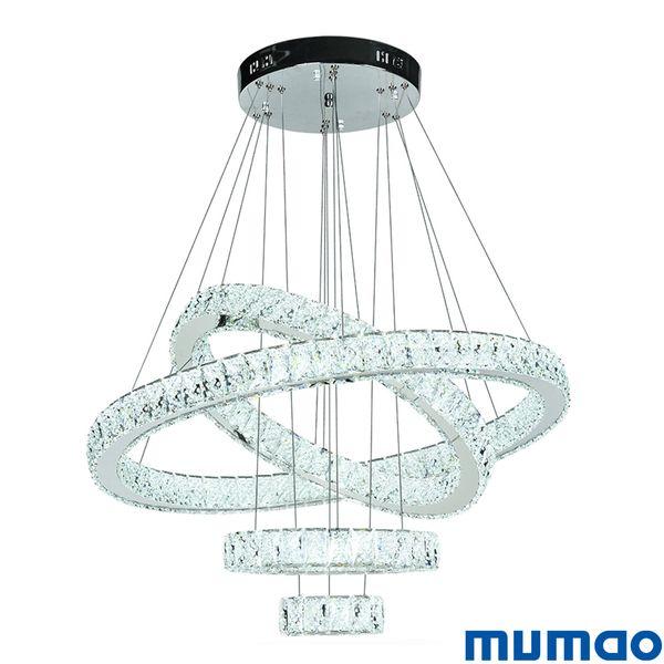 LED Crystal Pendant Light Modern LED Circle Chandeliers Lamp Hanging Lustres LED Ring Home Decoration Lamps Lighting