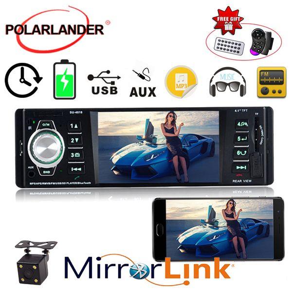 1 Din Autoradio radio con cassette audio Radio autoradio MP4 MP5 Bluetooth AUX TFT USB SD MMC FM EQ Rearview parcheggio auto