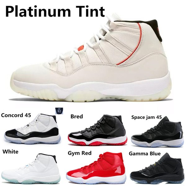 Concord 45 23 Basketball Shoes 11 11s Platinum Tint Gamma blue Gym Red Men Women Space Jam Sports Shoes Designer Sneakers