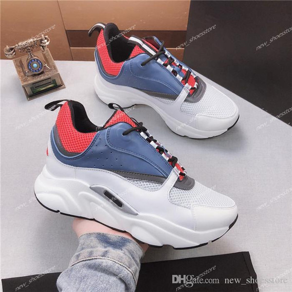 Zapatos Casual Mujer Hombre más reciente es la piel de becerro del zapato de cuero de alta calidad de los zapatos del diseñador de moda de lujo de las mujeres de los hombres de la zapatilla de deporte 35-45 Tamaño St111302