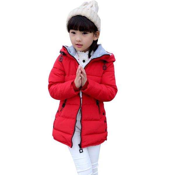 Winter Coats for Teenage Girls Cotton-Padded Warm Children's Winter Jackets 4-13 Years Girls Parka Kids Outerwear & Coat