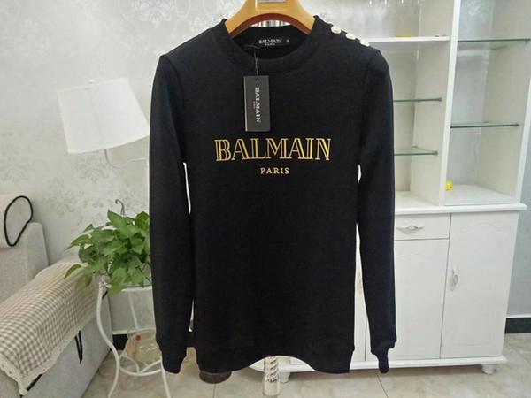 Felpe con cappuccio da uomo Balmain Designer Rosa Bianco Nero Rosso Uomo Donna Felpe con maniche lunghe Balmain Designer Taglia S-XL
