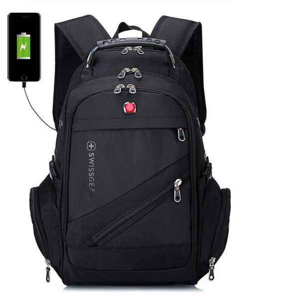 Hot brand laptop rucksacks high quality men nylon waterproof backpacks outdoor travel bags 6 colors with USB charge