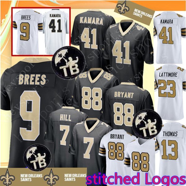 Saints 9 Drew Brees 41 Alvin Kamara Jersey New Orleans Saints 88 Dez Bryant  7 Taysom Hill 13 Michael Thomas 23 Marshon Lattimore Jerseys 5825d4a9f