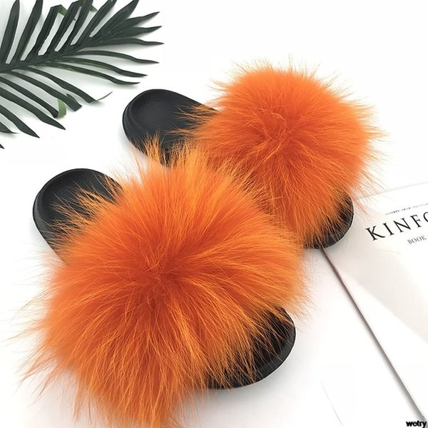 Raton laveur slippers_16 fourrure