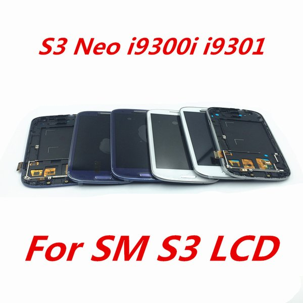 4.8'' S3 i9300 can light LCD Display i9300 i9305 i9301 Touch Screen Digitizer For SAMSUNG Galaxy S3 LCD with Frame Digitizer