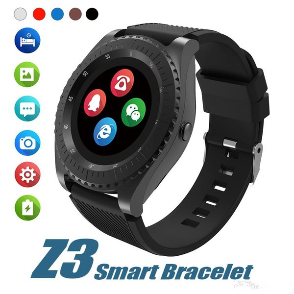 Z3 Bluetooth Smartwatch Wristband Android Smart Watch With Camera TF SIM Card Slot For Android With Retail Package