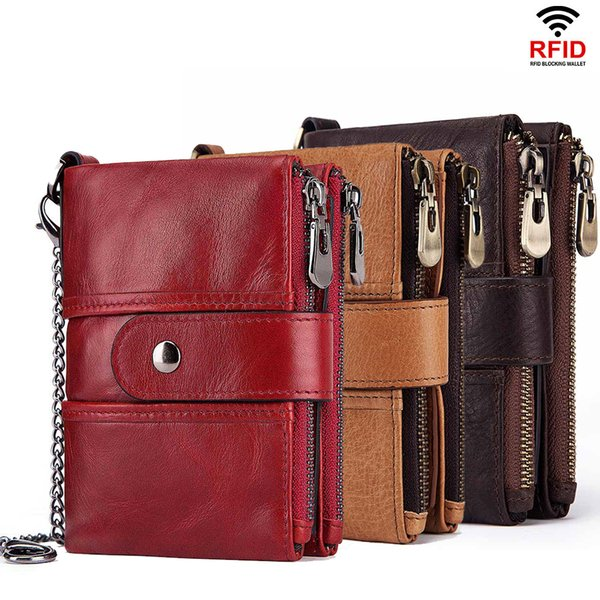 HOT Designer Wallet Men Genuine Leather RFID Wallets Mini Coin Purse Short Male Clutch Walet Mens Small Money Bag High Quality