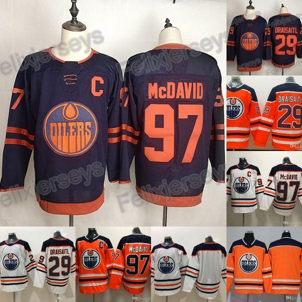 97 Connor McDavid 2019-20 Terceira Jersey Edmonton Oilers 29 Leon Draisaitl 19 Mikko Koskinen Hockey Blank Jersey
