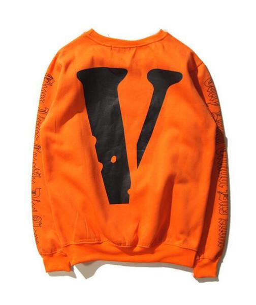 best selling 2019 Brand NEW HIP HOP VLONES Men's Women's Hoodie Sweatshirt Long Sleeve A $ AP Bari Virgil Large V Hoodie M--XXL