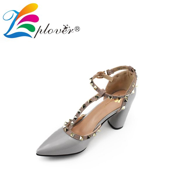 Designer Dress Shoes Zplover Brand Woman High Heel Pumps Square Heel Sexy Ladies Pumps Pointed Toe Thick Heels Women Wedding Party