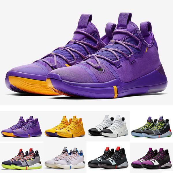 New Kobe AD React Exodus Derozan Черные Серебристые Фиолетовые Розовые Баскетбольные Кроссовки Высококачественные КБ Мужские Спортивные Кроссовки