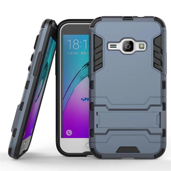 Für samsung galaxy j1 2016 case 4,5 zoll schlank stoßfest roboter rüstung hybrid silikon hard phone cover für j1 2016 j120 j120f
