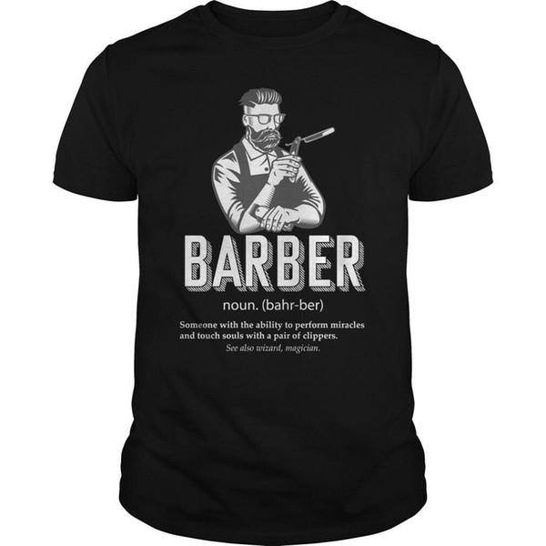 Beste Friseur-Definition überhaupt lustiges T-Shirt Barbershop-heiße Sommer-Kleidungs-Baumwollmann-T-Shirt Qualitäts-Männer kühlen T-Stücke Oberseiten ab