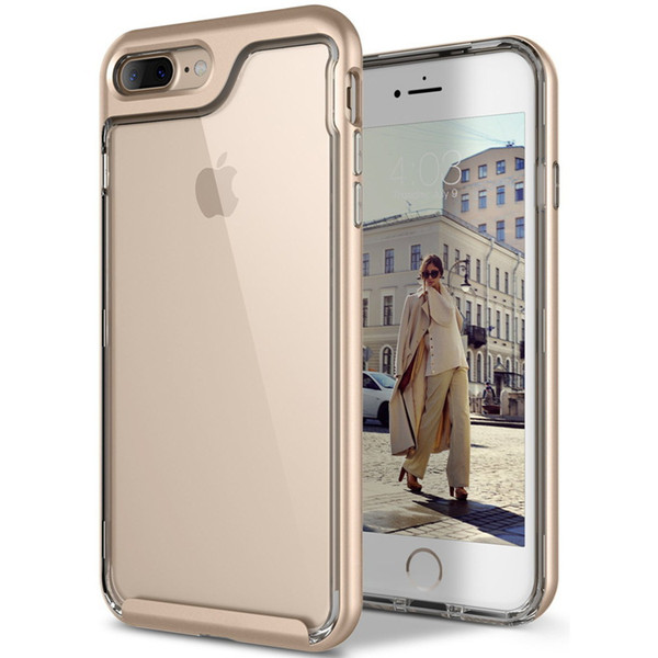Transparent TPU Phone Covers Gold 5 Colors Anti-fall Two-in-one Full Enclosure Applicable New for Phone XR XS XS MAX X 7P 8P 7 8 OPP Bag