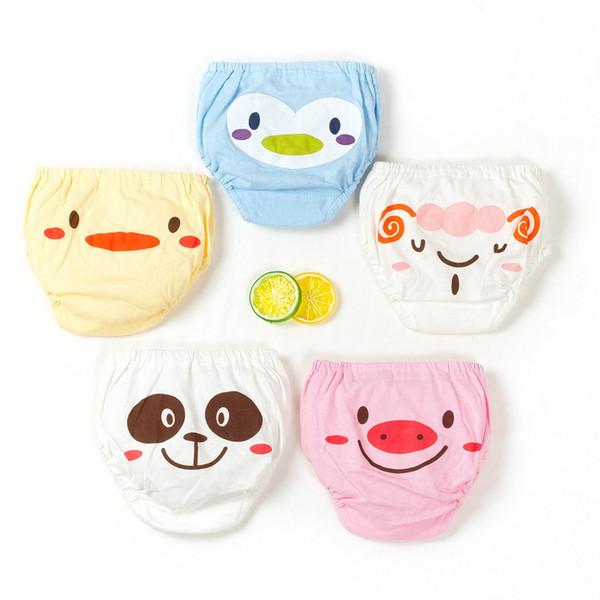 Pantalones de entrenamiento de algodón para bebés Bragas Pañales para bebés Pañales de tela reutilizables Pañales Bebés lavables Ropa interior para niños Cambio de pañales