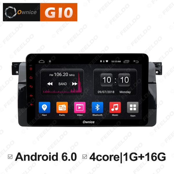 "FEELDO 8"" Android 6.0 4-Core/DDR3/Support 4G Dongle Car Media Player With GPS/FM/AM RDS Radio/Mirror Link/USB/SD For BMW E46 (1din)#5849"