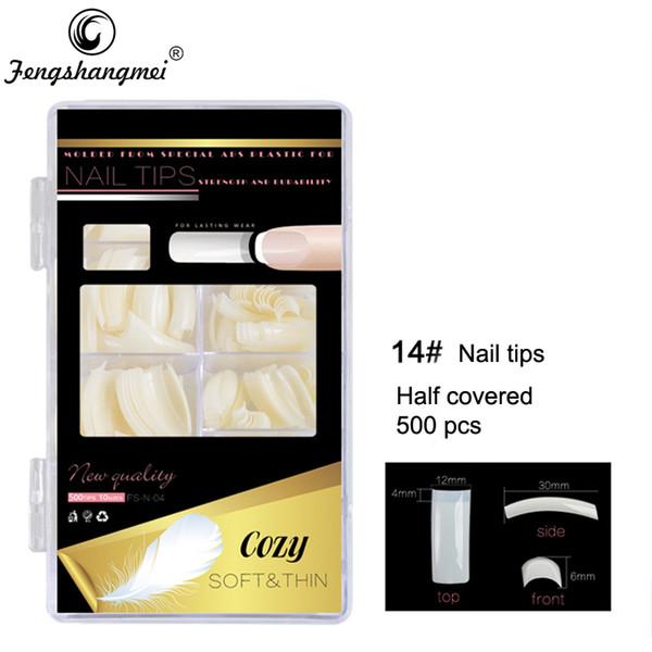 wholesale 500pcs Long Fake Nails Professional Salon Art Design Nail Tips False