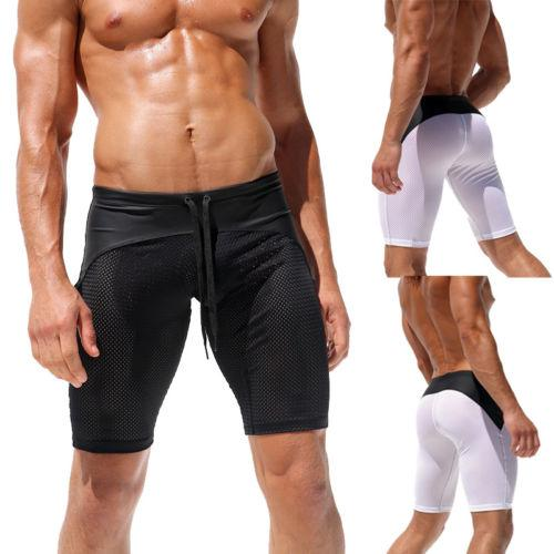 Mens Summer Breathable Shorts Gym Sports Casual Short Pants Beach Jogging Running Pants Trousers Running Sets