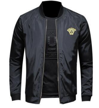 Mode Männer Jacke Windjacke Langarm Herren Jacken Hoodie Kleidung Reißverschluss mit Tier Brief Muster plus Größe Kleidung M-4XL