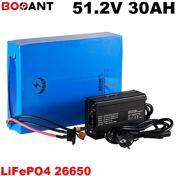 51.2V 30AH Electric bike battery 3.2V LiFePo4 Lithium Battery 16S 51.2v 250w 1000w 1500w 2500w E-bike Battery pack +5A Charger