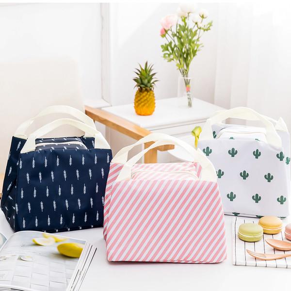 Bayan Yalıtımlı Çanta Flamingo Kore Versiyonu Taşınabilir Kolaylık Öğle Yemeği Kutusu Yalıtım Paketi Oxford Bez Öğle Yemeği Çantası