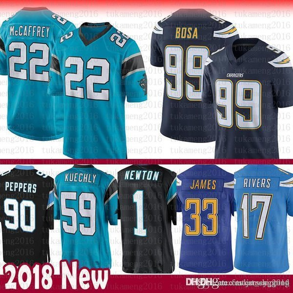 factory authentic 2fcdd 703cf 2019 Carolina 22 Christian McCaffrey Panthers 59 Luke Kuechly Jersey 1  Newton 90 Peppers Los Angeles Chargers 17 Rivers 99 Joey Bosa Derwin James  From ...