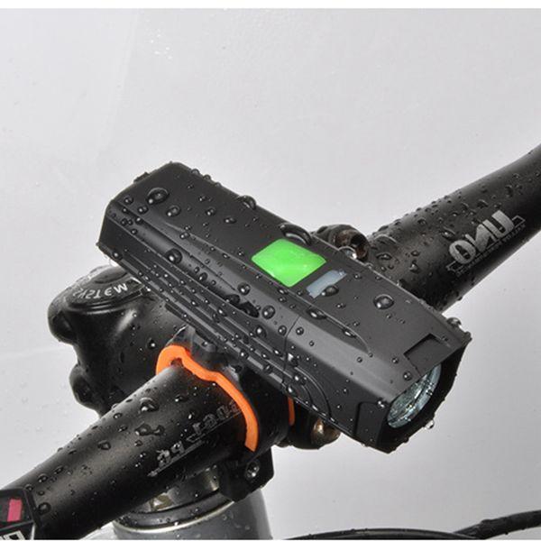 Phares de bicyclette Chargement USB T6 lumière haute lampe de poche d'équitation Vélo de montagne Éclairage LED phares étanche 450 lumens lumière LJJZ60
