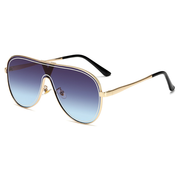 Moda occhiali da sole di marca del metallo di disegno Occhiali da sole per le donne gli uomini Luxury Vintage Sunglass UV400 Shades Eyewear Occhiali da sole