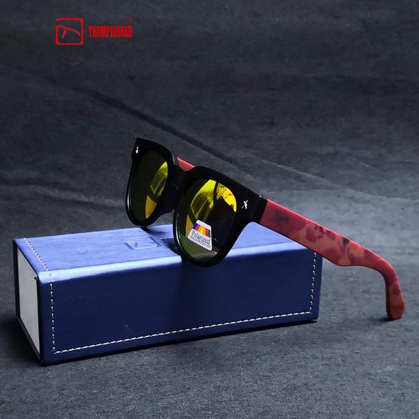 b01ed2cb70acd TRUMPIONEER Marca Design Polarizada Óculos De Sol Dos Homens de Condução  Tons Masculinos Retro Óculos De