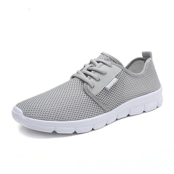 Gray man shoes