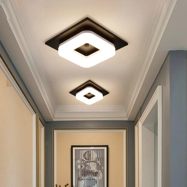 Artpad Modern Gömme Montaj Tavan Işık Koridor Sundurma Balkon Lamba İç Aydınlatma Sıva Üstü Kare LED Tavan Işıkları