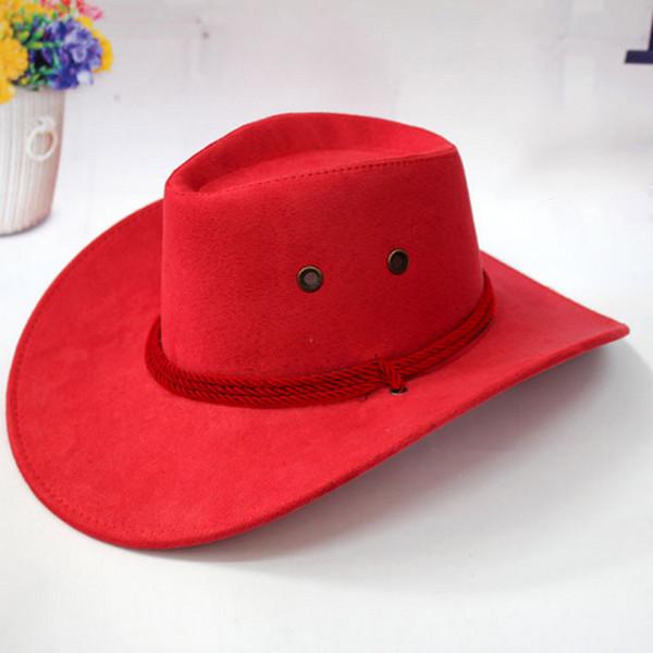 Nouvellement occidental Chapeau de cowboy hommes d'équitation Cap accessoire de mode à bords larges Crushable rabattement cadeau CTN88