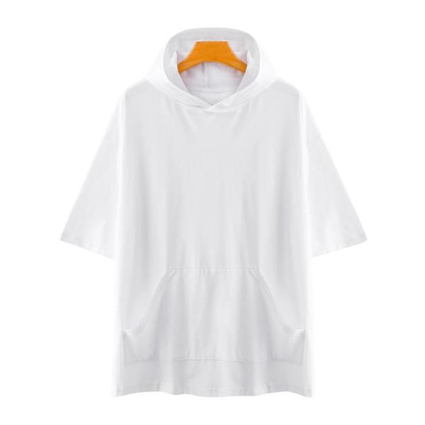 Fashion-Summer men Hoodies Bust 140cm Plus size short sleeve large size Sweatshirts men
