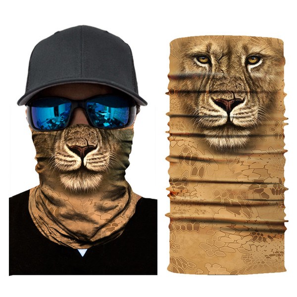 3D Animal Seamless Magic Neck Gaiter Face Mask Balaclava Shield Camping Cycling Fishing Biker Bandana Headband Scarf Men Women