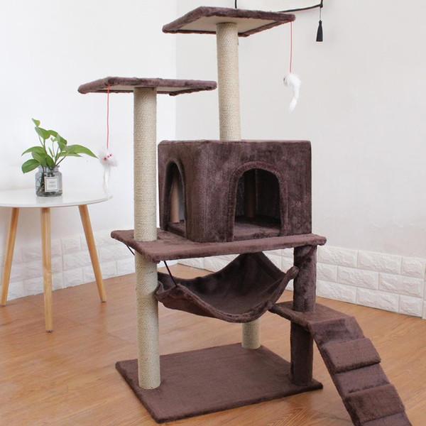 Compre 4 Gatos Uso De Gato Cama Mat Casa Scratchers Juguete Fuerte Apoyo Para Carga Suelo Estructura Muebles Gato Graciosamente Para Mascotas