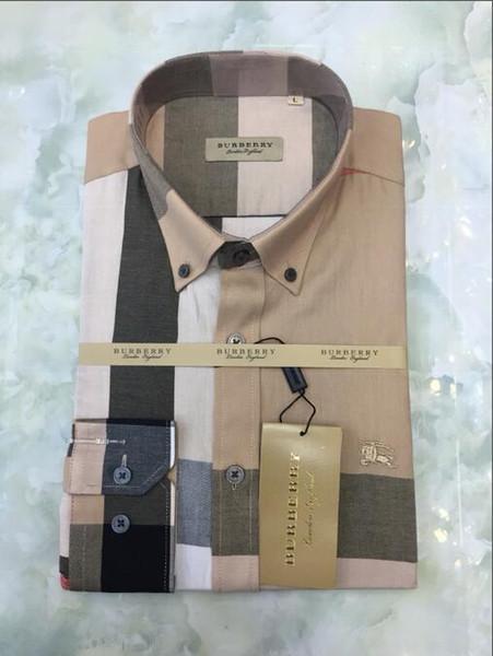 Britische kommerzielle Karohemd, Mode lange Ärmel% 100 Baumwollbeiläufigen Shirt Medusa BB6600